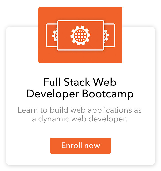 Our full stack web developer bootcamp