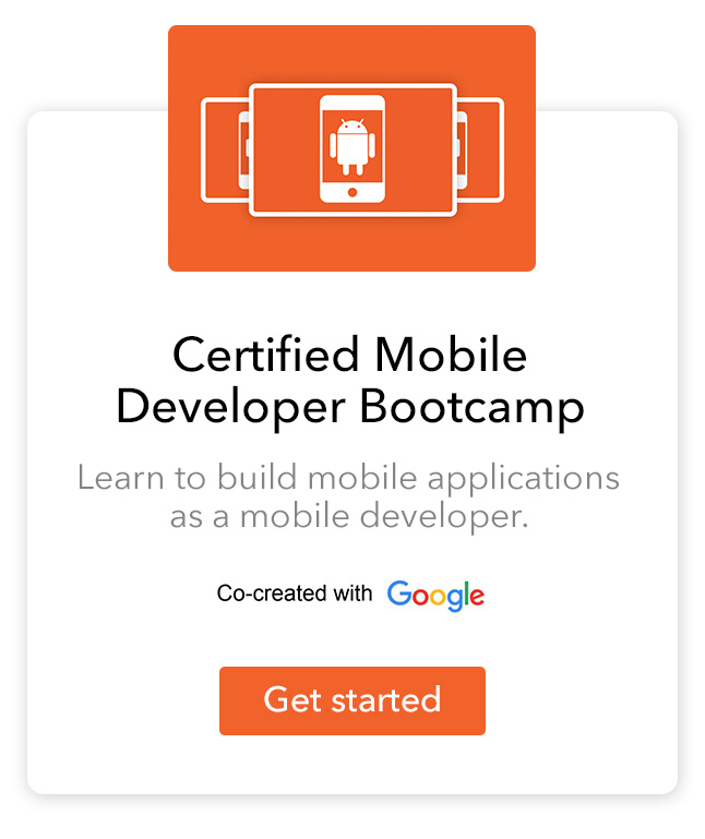 Our certified mobile developer bootcamp