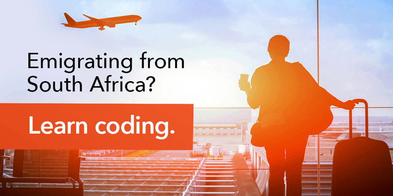 Emigrating from South Africa? Learn Coding