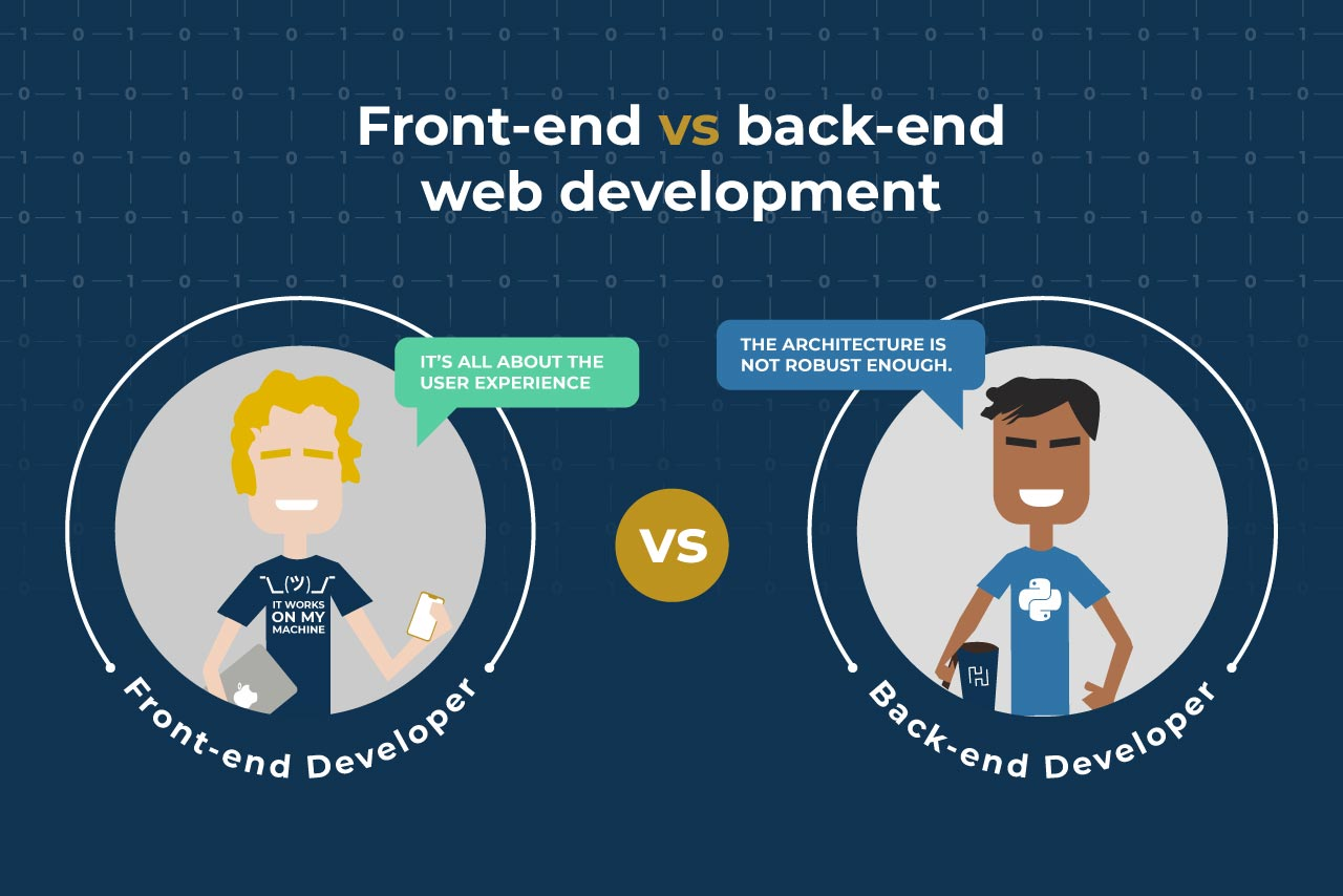 front-end vs back-end